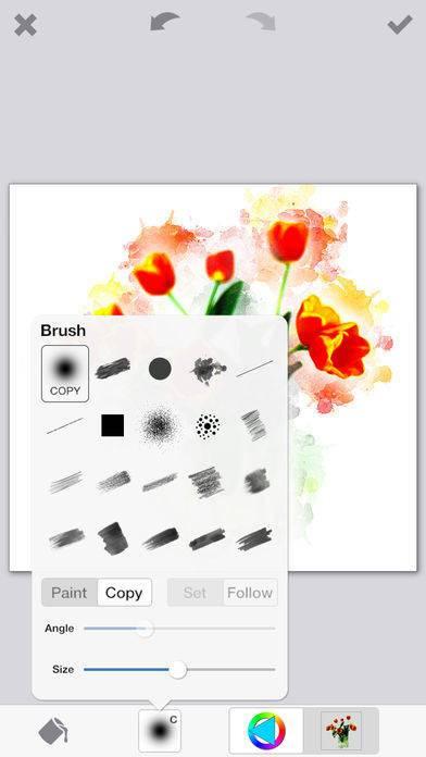 「PhotoViva – 写真をブラシで美しい絵画タッチの作品へと変身させる写真編集アプリ」のスクリーンショット 3枚目