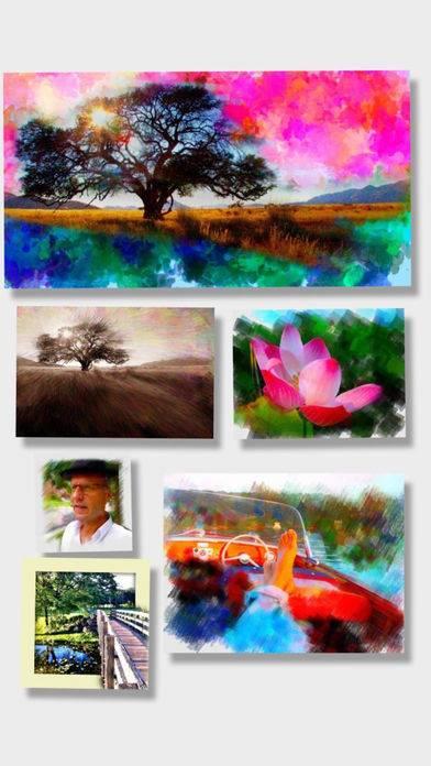 「PhotoViva – 写真をブラシで美しい絵画タッチの作品へと変身させる写真編集アプリ」のスクリーンショット 1枚目