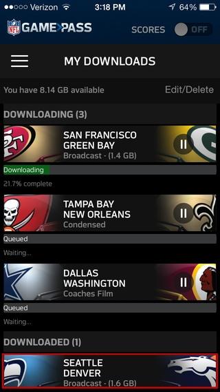 「NFL Game Pass」のスクリーンショット 3枚目