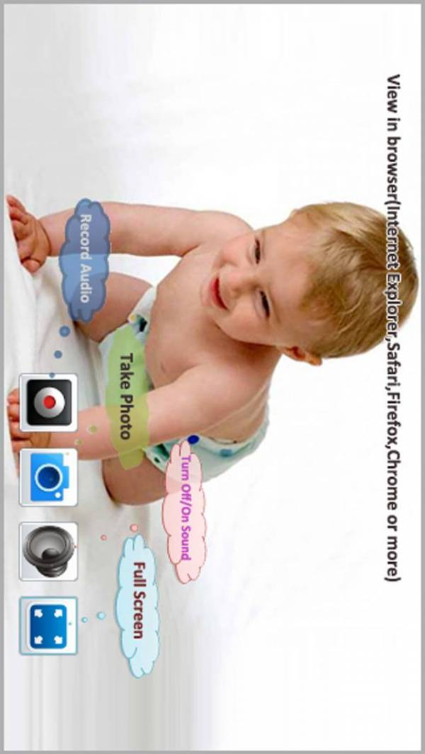 「Wireless Monitor & Listen (Monitor the baby and all the things of the room,Camera to PC withOUT Client)--Third Eye Pro」のスクリーンショット 2枚目