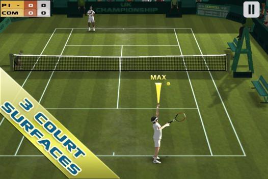 「Cross Court Tennis Free」のスクリーンショット 1枚目
