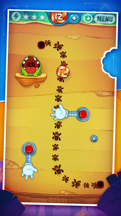 「Cut the Rope: Experiments ™ (カット・ザ・ロープ:実験)」のスクリーンショット 1枚目