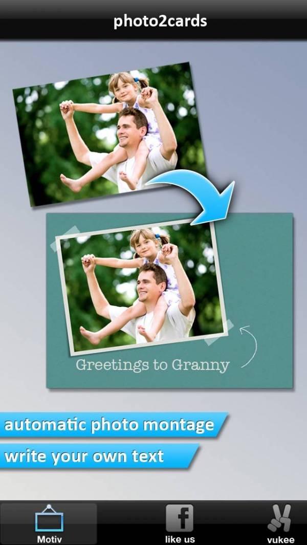 「PHOTO2cards」のスクリーンショット 2枚目