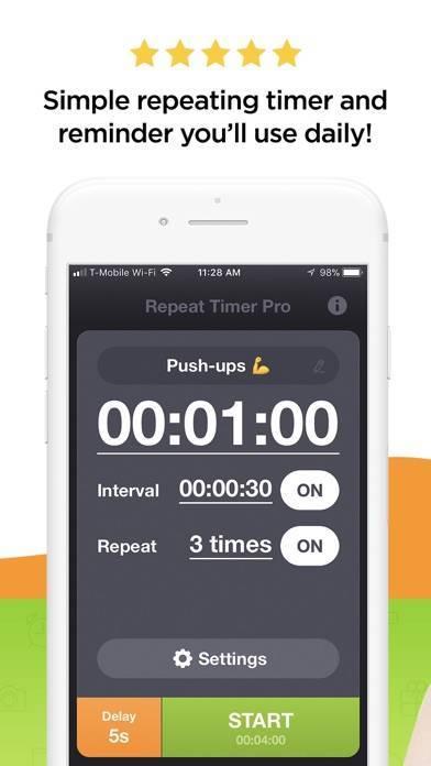 「Repeat Timer Pro」のスクリーンショット 1枚目