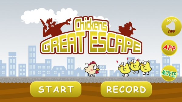 「Chickens Great Escape」のスクリーンショット 1枚目