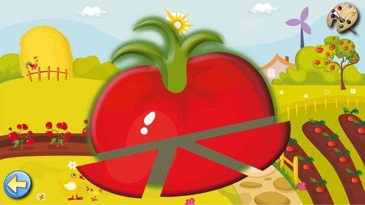 「果物や野菜: 子供のためのゲーム 赤ちゃん - 無料 - 教育の」のスクリーンショット 2枚目