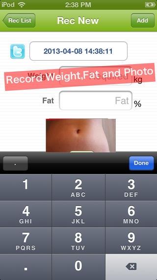 「見た目ダイエット日記 〜体重と一緒に写真も記録〜」のスクリーンショット 3枚目
