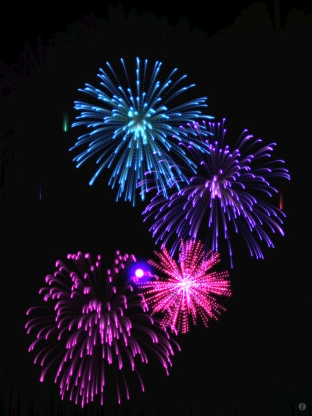 「Real Fireworks Artwork 4-in-1 HD 2012 - Play Awesome Light Show, Enjoy Fun Visualizer, Make Cool Wallpapers and Draw Amazing Art」のスクリーンショット 1枚目