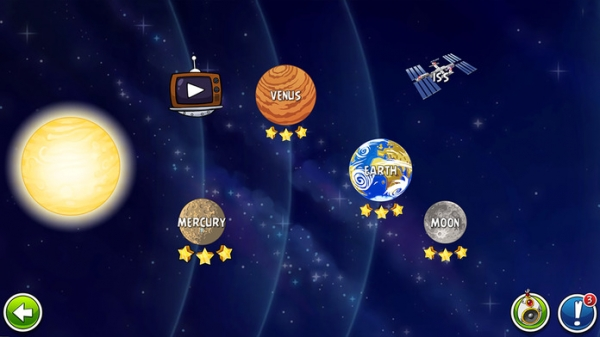 「Angry Birds Space」のスクリーンショット 1枚目
