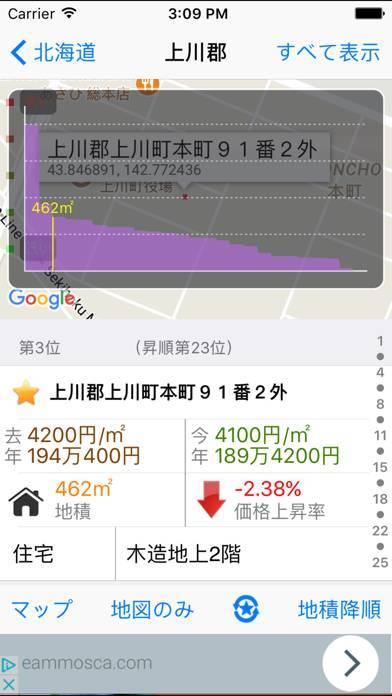 「日本地価公示 Lite」のスクリーンショット 2枚目
