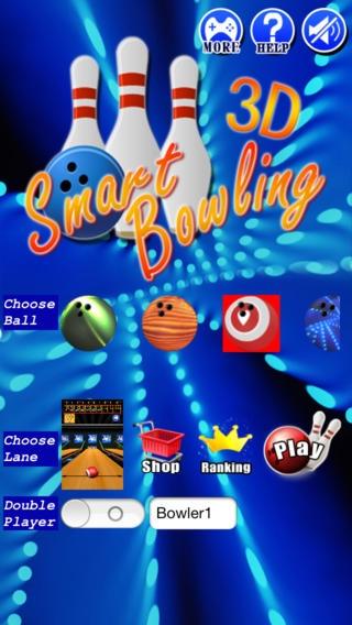 「スマートボウリング 3D」のスクリーンショット 1枚目