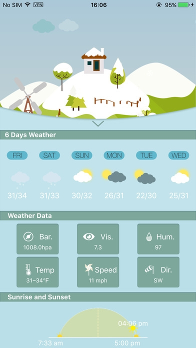 「Weather HD for weather forecast, world city」のスクリーンショット 2枚目