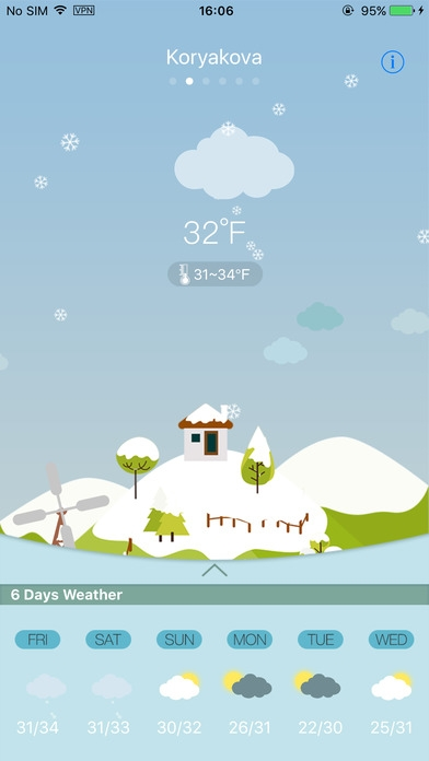 「Weather HD for weather forecast, world city」のスクリーンショット 1枚目