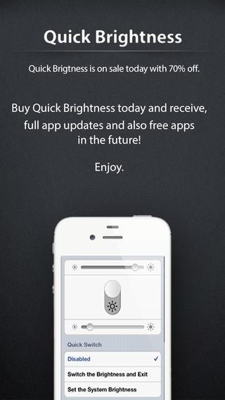 「Quick Brightness」のスクリーンショット 3枚目