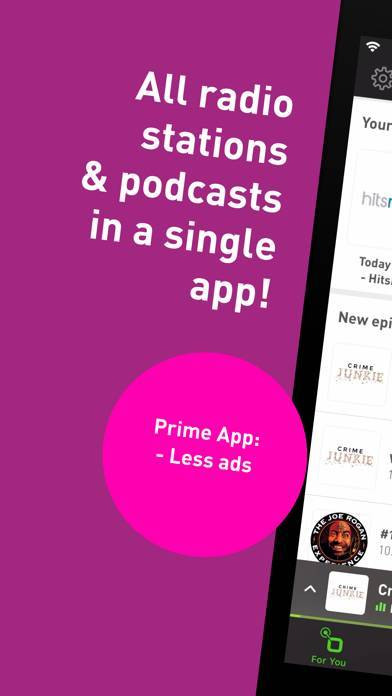 「radio.net PRIME」のスクリーンショット 1枚目