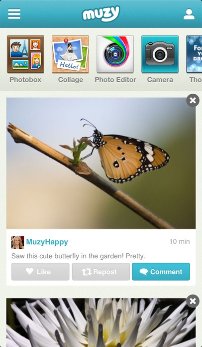 「Muzy: Photo Editors, Collages, and more」のスクリーンショット 2枚目