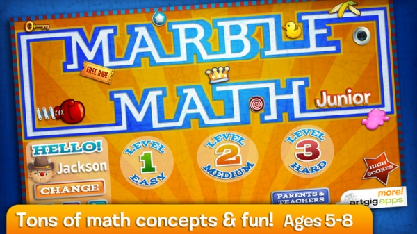 「Marble Math Junior」のスクリーンショット 1枚目