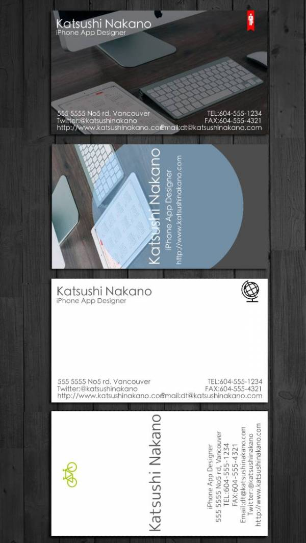 「BusinessCardDesigner - 名刺作成ソフト、テンプレート with PDF, AirPrint and email function」のスクリーンショット 1枚目