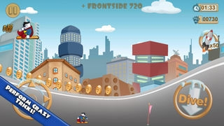 「スノーボード 無料ゲーム レースゲーム 無料アプリ, 面白いアプリ無料」のスクリーンショット 2枚目