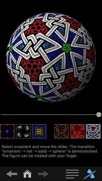 「iOrnament - creative math art」のスクリーンショット 3枚目