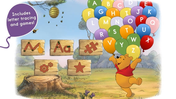 「Letters with Pooh」のスクリーンショット 2枚目