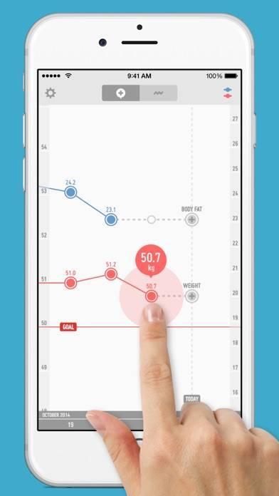 「PopWeight - 体重管理が簡単にできるダイエット記録アプリ」のスクリーンショット 1枚目