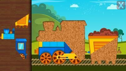 「子供の鉄道と交通機関 – 幼児向けパズル」のスクリーンショット 2枚目