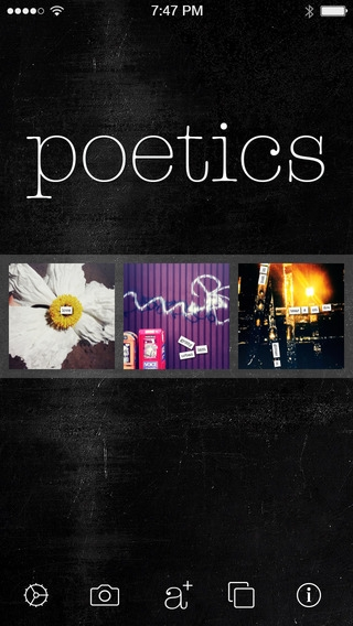 「Poetics - create, write and share visual poetry」のスクリーンショット 1枚目