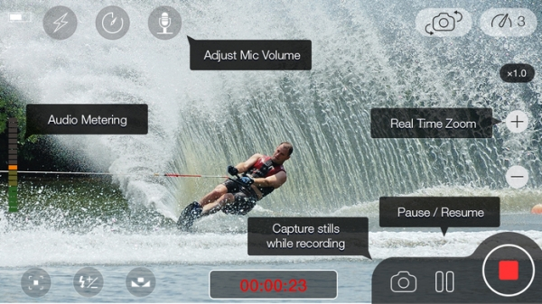 「MoviePro : Video Recorder with Limitless options」のスクリーンショット 1枚目