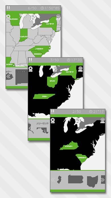 「あそんでまなべる アメリカ地図パズル」のスクリーンショット 2枚目