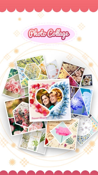 「Pic-Frame Grid, Picture Collage Maker & Photo Editor Effects」のスクリーンショット 1枚目