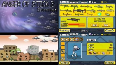 「AngerOfStick3: Invasion」のスクリーンショット 1枚目