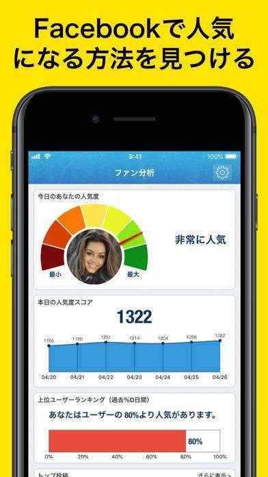 「MyTopFans Pro(フェイスブック用)」のスクリーンショット 1枚目