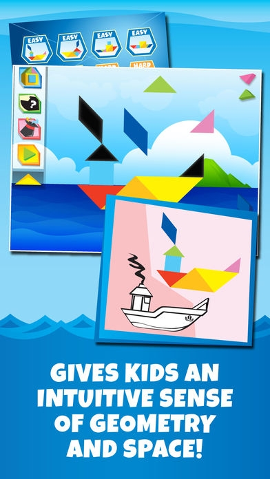 「Kids Learning Puzzles: Ships & Boats, K12 Tangram」のスクリーンショット 2枚目