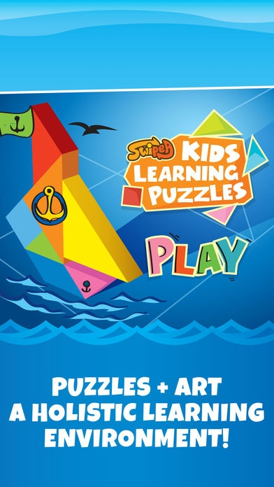 「Kids Learning Puzzles: Ships & Boats, K12 Tangram」のスクリーンショット 1枚目