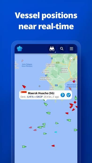 「MarineTraffic - Ship Tracking」のスクリーンショット 1枚目