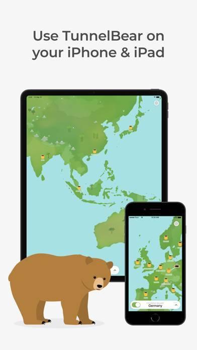 「TunnelBear: Secure VPN & Wifi」のスクリーンショット 3枚目