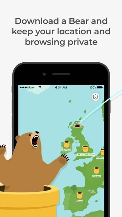 「TunnelBear: Secure VPN & Wifi」のスクリーンショット 1枚目