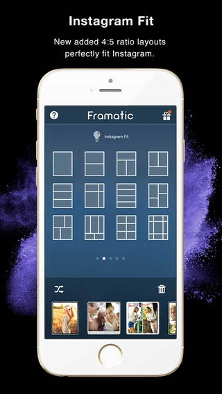 「Framatic - Photo Collage Pic Editor for Instagram」のスクリーンショット 2枚目