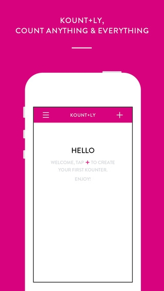 「Kount.ly : count anything and everything」のスクリーンショット 1枚目