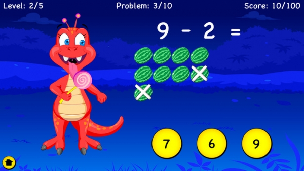 「Subtraction For Kids - Learn Basic First Grade Subtraction and With Regrouping For Second Grade」のスクリーンショット 2枚目