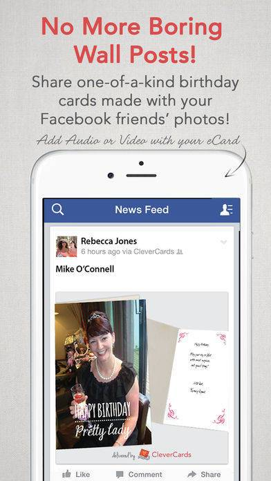 「CleverCards: Greeting Cards & eCards for Facebook」のスクリーンショット 3枚目