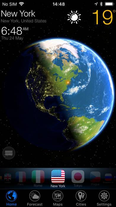 「3D地球天気ウィジェット」のスクリーンショット 1枚目