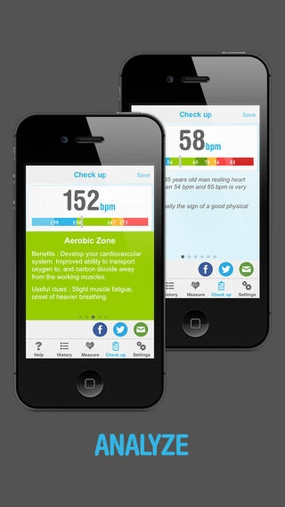 「Heart Beat Rate Pro - Heart rate monitor」のスクリーンショット 2枚目
