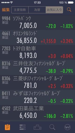 「StockWeather - リアルタイム株価」のスクリーンショット 1枚目