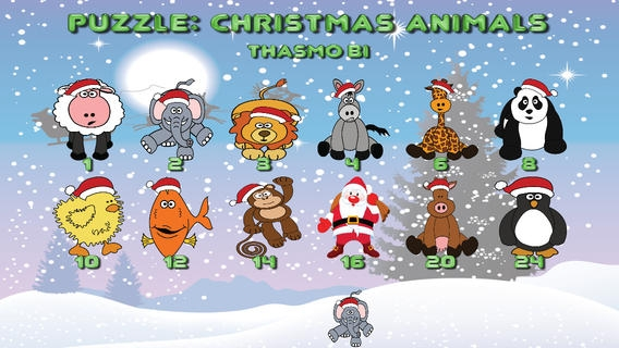 「Puzzle: Christmas animals for toddlers」のスクリーンショット 2枚目