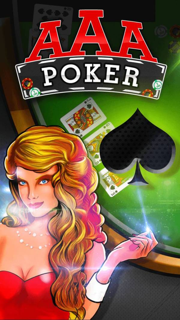 「AAA Poker (カジノ ポーカー 無料ゲーム) – Play The Best Deluxe Casino Card Game Live With Friends (VIP Joker Poker Series & More!) for iPhone」のスクリーンショット 1枚目