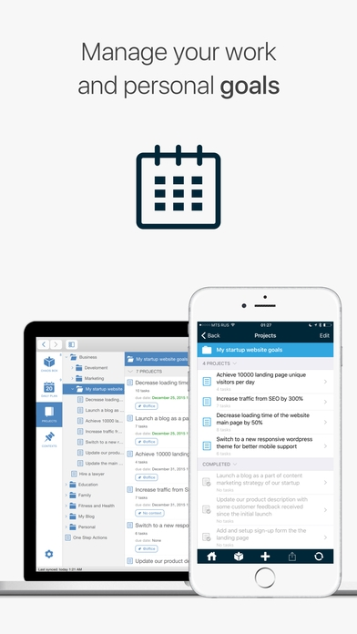 「Chaos Control - Tasks & GTD To-Do Lists」のスクリーンショット 1枚目