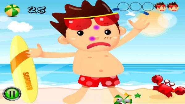 「Beach Man Ball - The player is attacked on the beach by the balls, destroy all.」のスクリーンショット 3枚目