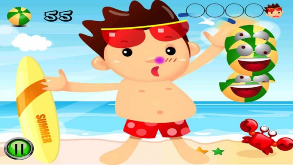 「Beach Man Ball - The player is attacked on the beach by the balls, destroy all.」のスクリーンショット 2枚目